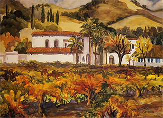 Wente Sparkling Wine Cellars Vineyard Autumn by Charlotte Severin