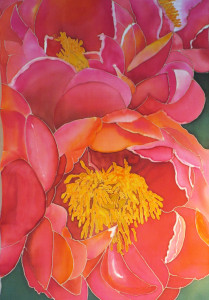 **Helmer,Susan-Pretty in Pink, painted silk24x31