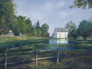 """Grist Mill, Lorraine, France"", Oil"